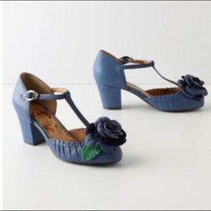 Anthropologie Miss L-Fire Dusky Begonia heels 37